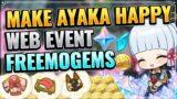 NEW AYAKA WEB EVENT! (FREE 40 PRIMOGEMS!) Genshin Impact Inazuma Patch 2.0 The Heron's Invitation