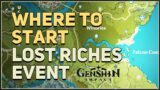 Where to start Lost Riches Event Genshin Impact