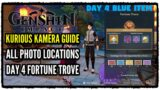 Genshin Impact Kurious Kamera Quest Guide All Photo Locations for Fortune Trove (DAY 4 BLUE ITEMS)