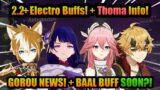 NEW THOMA & GOROU Info!+ New 2.2+ FUTURE ELECTRO BUFF??!+ DENDRO ARCHON Theory! | Genshin Impact